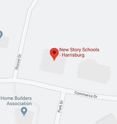 Here's our school location on the map in Harrisburg.