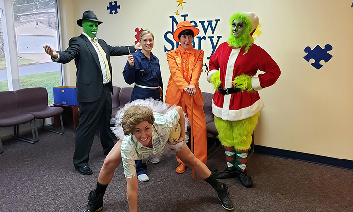 New Story School on Wyomissing Boulevard Administrators dressed up as Jim Carey Characters!