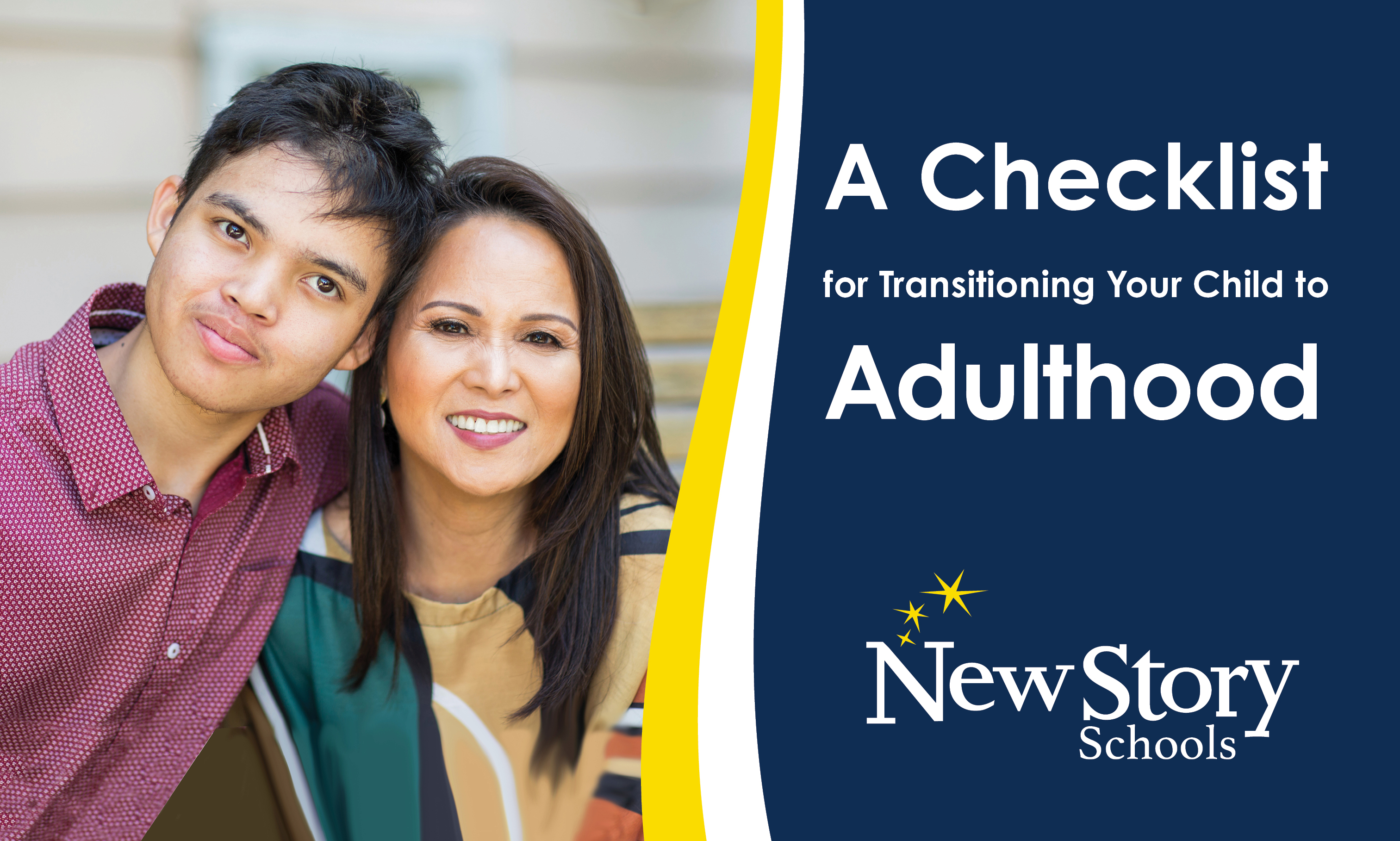 Special Education teenager and mother. Title: A Checklist for transitioning your child to Adulthood.