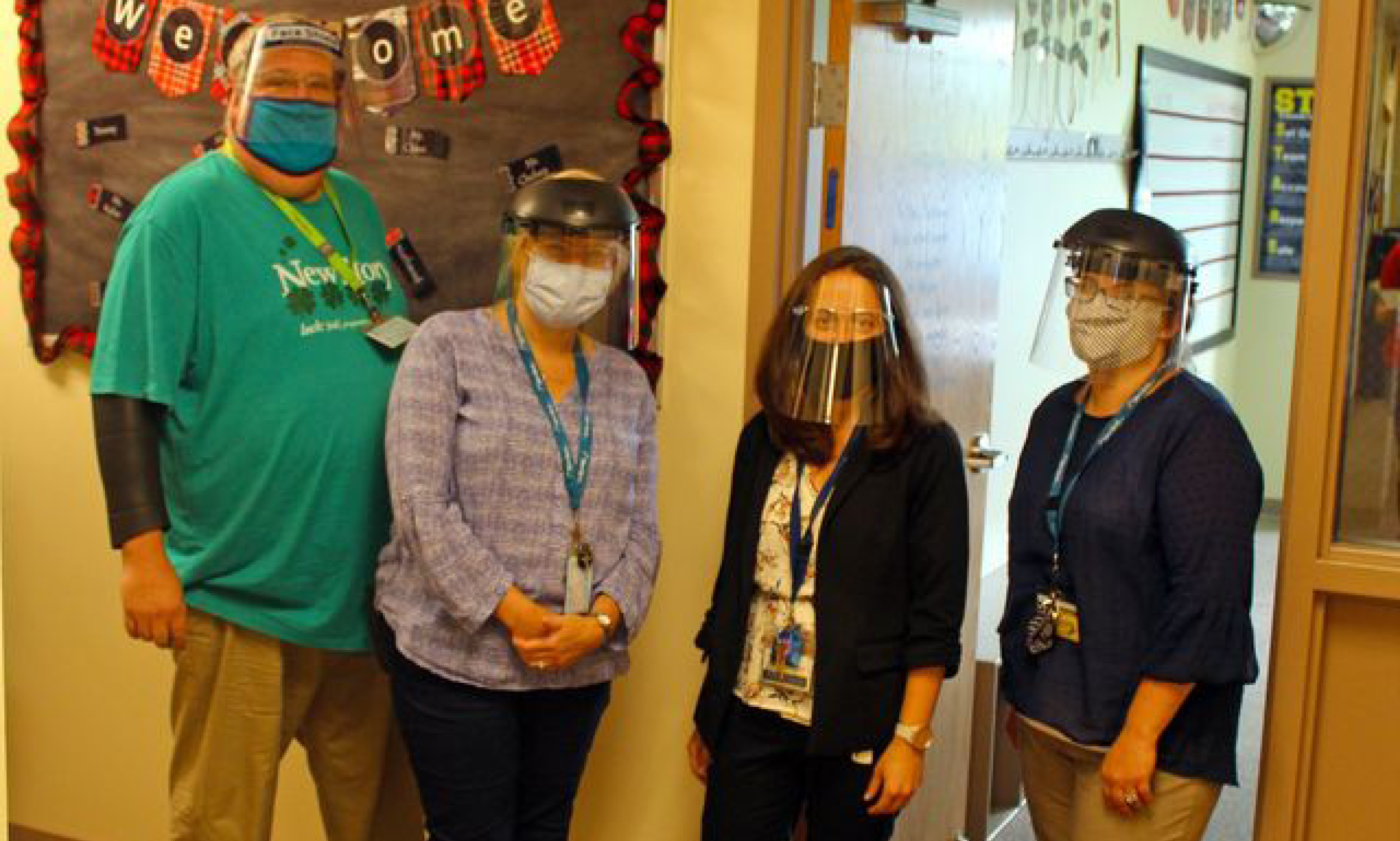 Special Education Staff with masks