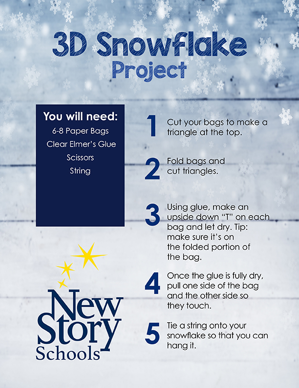 3D Snowflake Art Project Instructions